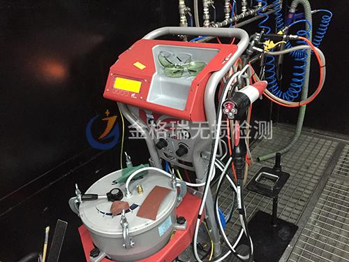 荧光渗透检测设备悬挂、喷涂